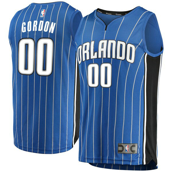 Camiseta nba Aaron Gordon 0 Icon Edition Azul Orlando Magic Hombre