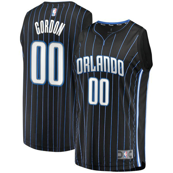 Camiseta nba Aaron Gordon 0 Statement Edition Negro Orlando Magic Hombre
