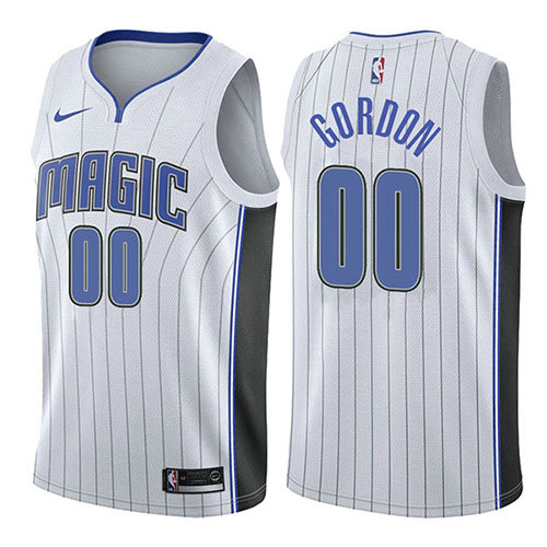Camiseta nba Aaron Gordon 0 Association 2017-18 Blanco Orlando Magic Hombre