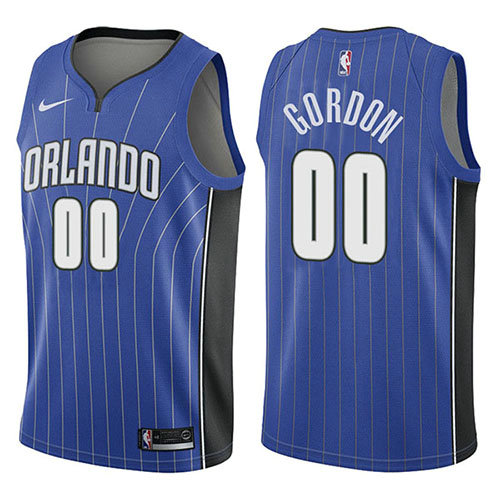 Camiseta nba Aaron Gordon 0 Icon 2017-18 Azul Orlando Magic Hombre