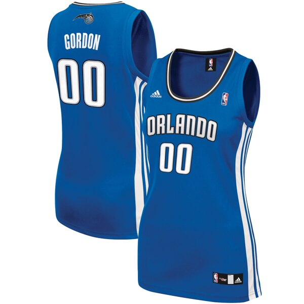 Camiseta nba Aaron Gordon 0 Réplica Azul Orlando Magic Mujer