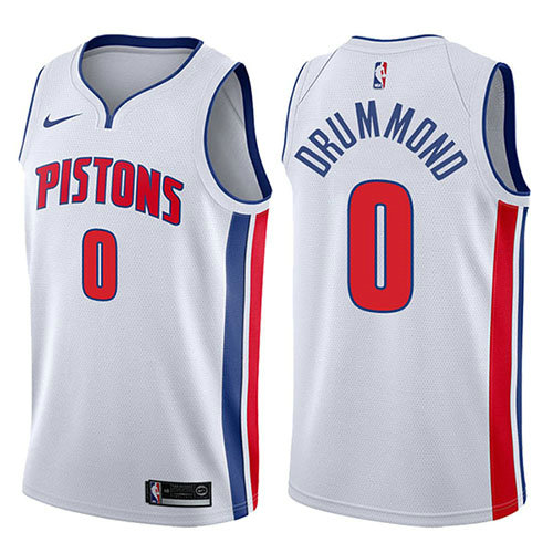 Camiseta nba Andre Drummond 0 Association 2017-18 Blanco Detroit Pistons Hombre