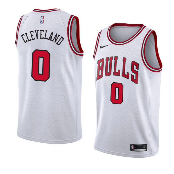 Camiseta nba Antonius Cleveland 0 Association 2018 Blanco Chicago Bulls Hombre