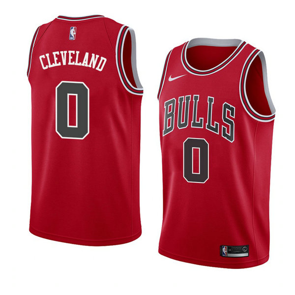 Camiseta nba Antonius Cleveland 0 Icon 2018 Rojo Chicago Bulls Hombre