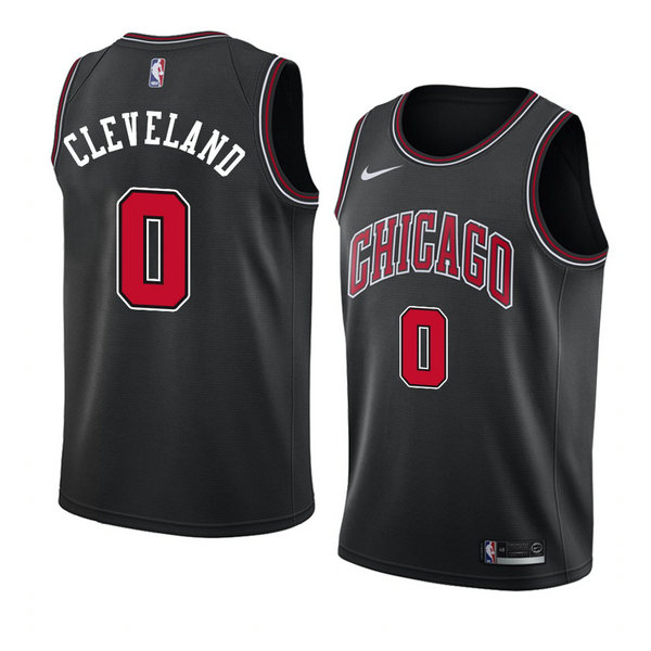 Camiseta nba Antonius Cleveland 0 Statement 2018 Negro Chicago Bulls Hombre