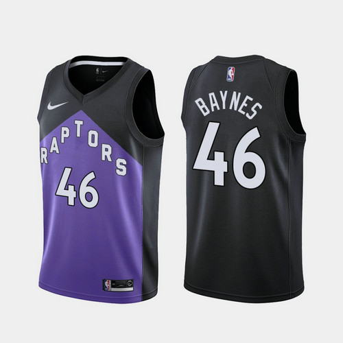 Camiseta nba Aron Baynes 46 2020-21 Earned Edition morado Toronto Raptors Hombre