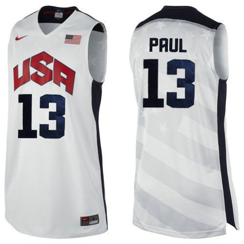 Camiseta nba Chris Paul 13 Blanco USA 2012 Hombre