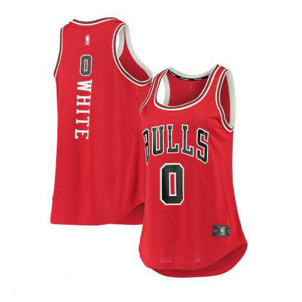 Camiseta nba Coby White 0 icon edition Blanco Chicago Bulls Mujer