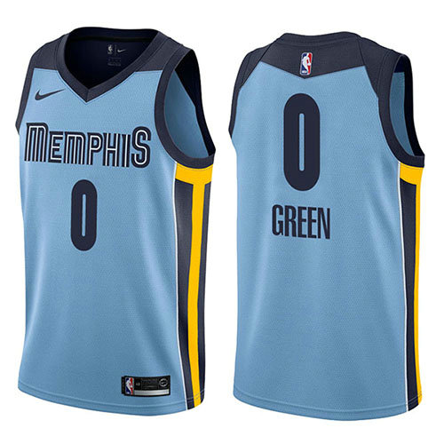 Camiseta nba Jamychal Green 0 Statement 2017-18 Azul Memphis Grizzlies Hombre