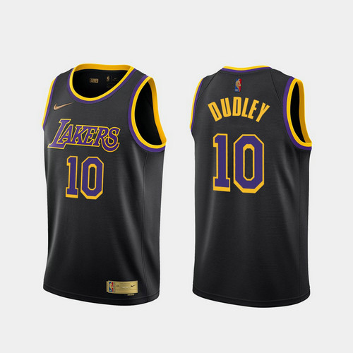 Camiseta nba Jared Dudley 10 2020-21 Earned Edition negro Los Angeles Lakers Hombre