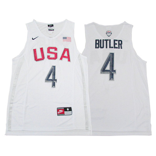 Camiseta nba Jimmy Butler 4 Blanco USA 2016 Hombre