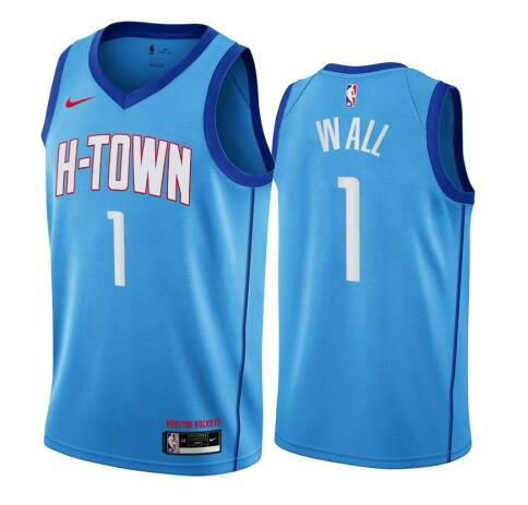 Camiseta nba John Wall 1 2020-21 City Edition Swingman azul Houston Rockets Hombre