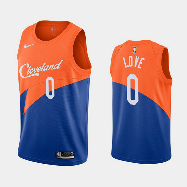 Camiseta nba Kevin Love 0 2020-21 Temporada Statement Azul Cleveland Cavaliers Hombre