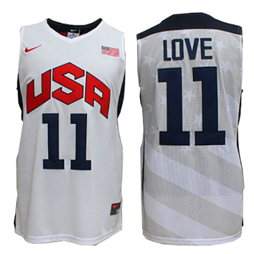Camiseta nba Kevin Love 11 Blanco USA 2012 Hombre