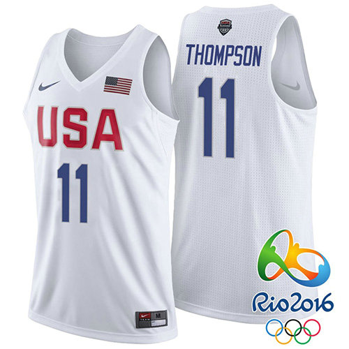 Camiseta nba Klay Thompson 11 Blanco USA 2016 Hombre