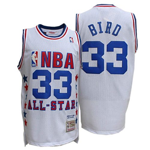 Camiseta nba Larry Bird 33 Blanco All Star 1990 Hombre