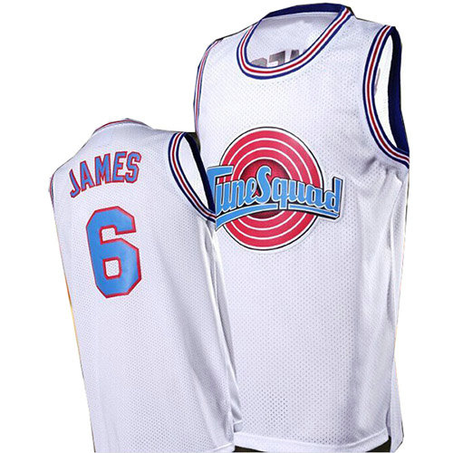 Camiseta nba Lebron James 6 Blanco Tune Squad Hombre