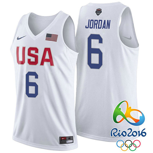Camiseta nba Lebron James 6 Blanco USA 2016 Hombre