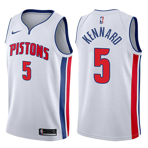 Camiseta nba Luke Kennard 5 Association 2017-18 Blanco Detroit Pistons Hombre