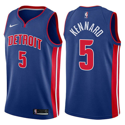 Camiseta nba Luke Kennard 5 Icon 2017-18 Azul Detroit Pistons Hombre