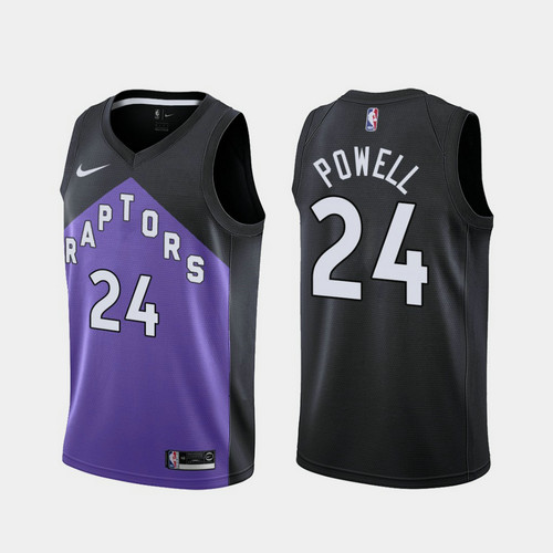 Camiseta nba Norman Powell 24 2020-21 Earned Edition morado Toronto Raptors Hombre