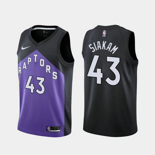 Camiseta nba Pascal Siakam 43 2020-21 Earned Edition morado Toronto Raptors Hombre