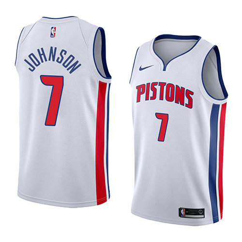 Camiseta nba Stanley Johnson 7 Association 2018 Blanco Detroit Pistons Hombre