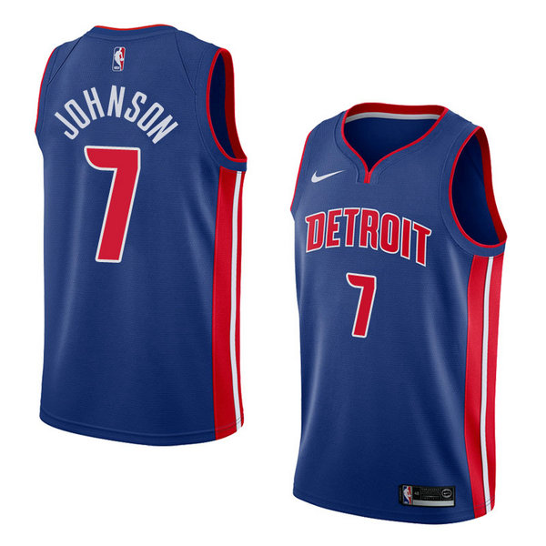 Camiseta nba Stanley Johnson 7 Icon 2018 Azul Detroit Pistons Hombre