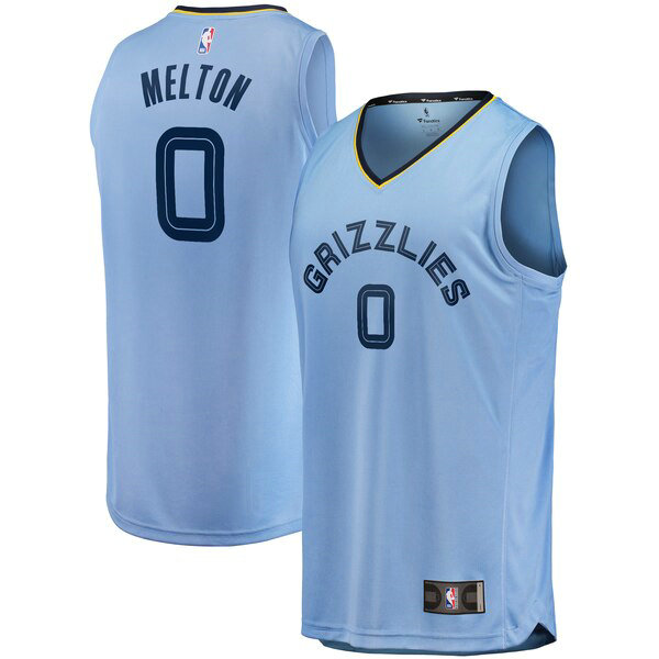 Camiseta nba De'Anthony Melton 0 Statement Edition Azul Memphis Grizzlies Hombre