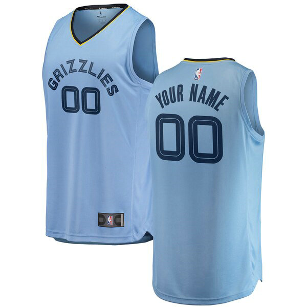 Camiseta nba Custom 0 2018-2019 Statement Edition Azul Memphis Grizzlies Hombre
