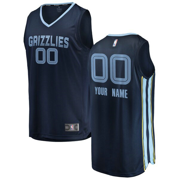 Camiseta nba Custom 0 2018-2019 Icon Edition Armada Memphis Grizzlies Hombre