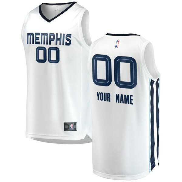 Camiseta nba Custom 0 2018-2019 Association Edition Blanco Memphis Grizzlies Hombre