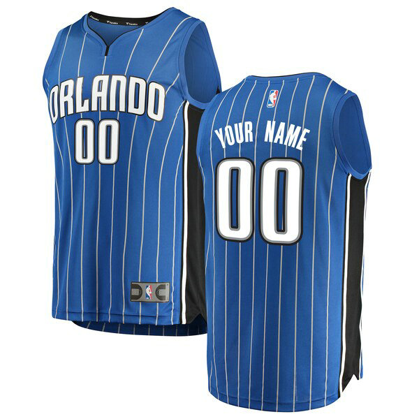 Camiseta nba Custom 0 Icon Edition Azul Orlando Magic Hombre