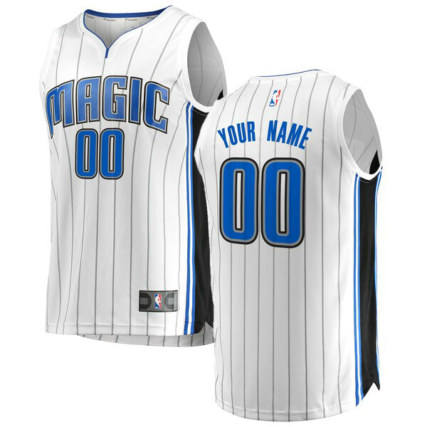 Camiseta nba Custom 0 Association Edition Blanco Orlando Magic Hombre