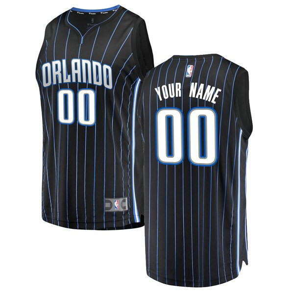 Camiseta nba Custom 0 Statement Edition Negro Orlando Magic Nino