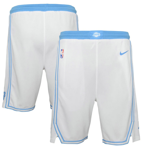 Pantalones Cortos nba 2020-21 City Edition blanco Los Angeles Lakers city Hombre