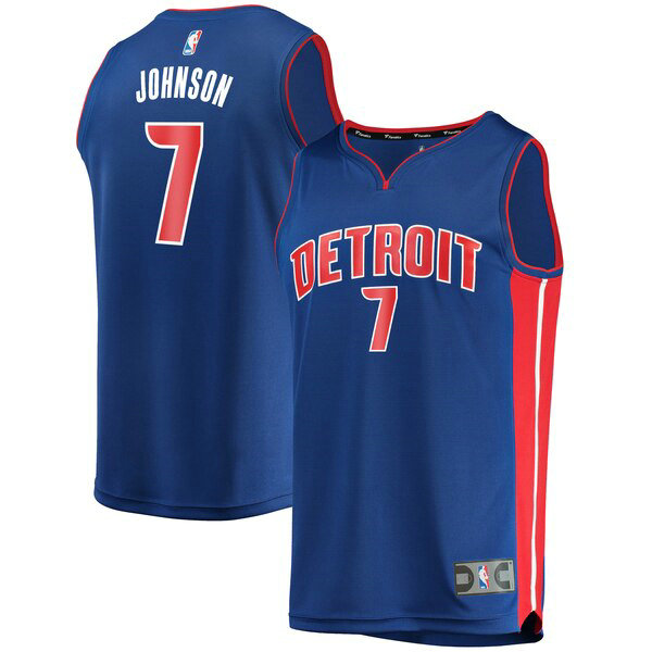 Camiseta nba Stanley Johnson 7 Icon Edition Azul Detroit Pistons Hombre